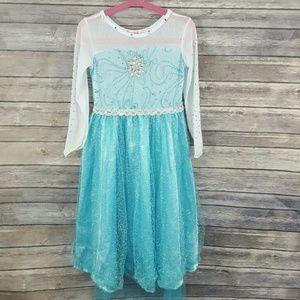 Girls Deluxe Princess Elsa Dress Costume